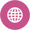 earth, earth grid, globe, planet, world map, worldwide icon