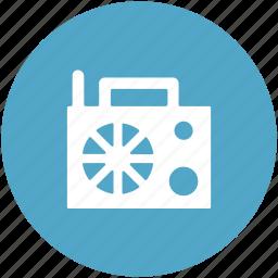 audio transmission, radio, radiol set, technology, vintage radio icon