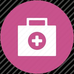 doctor bag, first aid, first aid box, first aid kit, medical aid, medical box, medicine box icon
