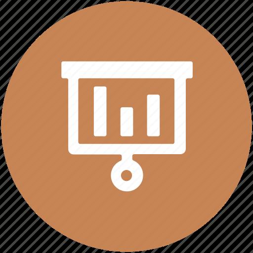 easel, folding graph, graph presentation, inforgraphics, presentation board icon