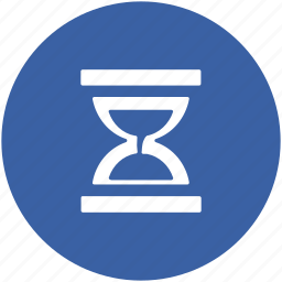 egg timer, hourglass, sand clock, sand timer, sand watch, sandglass icon