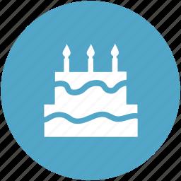bakery food, birthday cake, cake, cake with candle, celebration, food icon