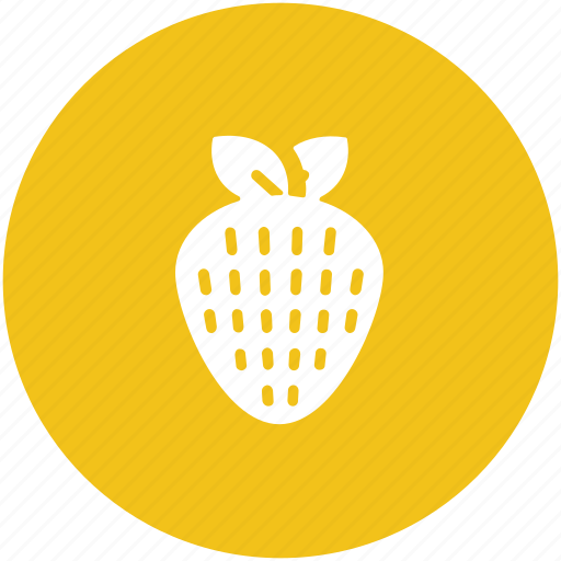 food, fruit, healthy food, organic, red fruit, strawberry icon