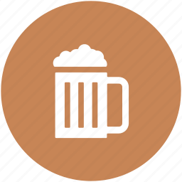 alcohol, ale, beer mug, beer pint, chilled beer, drink icon