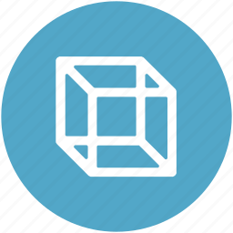 cube, cube divisions, element, geometry, hollow cube, shape, ui icon