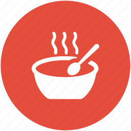 food, food bowl, hot food, meal, soup bowl, spoon icon