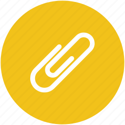 attachment, paper attaching, paper clinch, paperclip, stationery icon