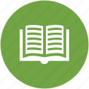 book, encyclopedia, knowledge, open book, reading, study icon