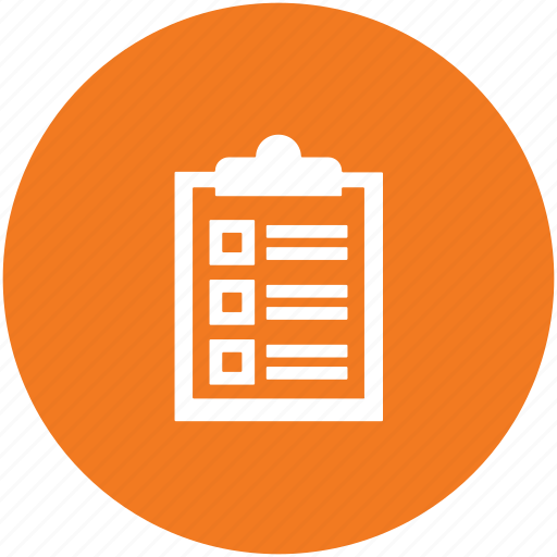 checklist, clipboard, list, planning list, schedule, to dos icon