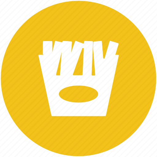 chips, fast food, french fries, fries, junk food, potato fries icon