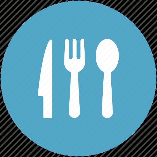 dining, eating, flatware, fork, knife, spoon, utensil icon