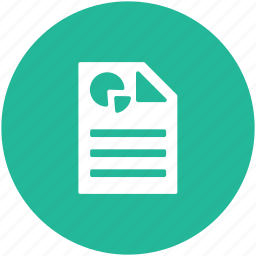 analysis report, business document, business report, graphical report icon
