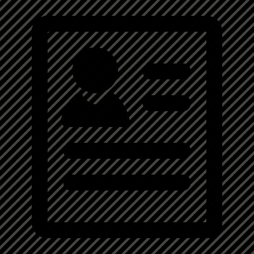 document, identification, license, profile icon