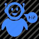 advisor, character, message, robo, robot icon