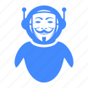 anonymous, hacker, mask, robot, spy icon