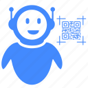 code, qr, robot, scan icon