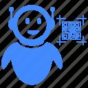 code, qr, robot, scan