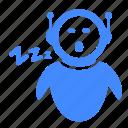 reboot, resting, robot, sleeper, sleeps, sleepy, tired icon