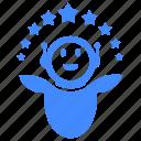 achievement, awards, joy, luck, robot, success, successful icon