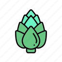 artichoke, diet, healthy, vegan, vegetable, veggie icon