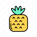 ananas, diet, fruits, healthy, vegan, veggie icon