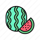 diet, healthy, melon, vegan, veggie, watermelon icon