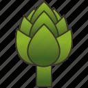 artichoke, green, healthy, nutrient, vegetable icon