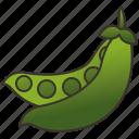 beans, crops, green, legume, peas icon