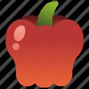 bell, ingredient, pepper, red, sweet