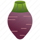 carbohydrate, corm, harvest, purple, taro icon