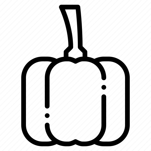 food, healthy, organic, papper, vegetable icon