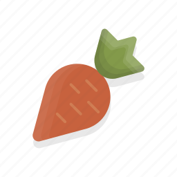 carrot, food, healthy, vegetable icon