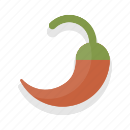chilli, food, healthy, vegetable icon