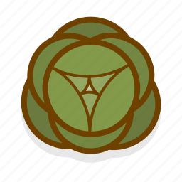cabbage, food, healthy, vegetable icon