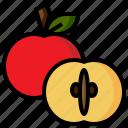 diet, food, foodapple, fruit, healthy, organic, vegetarian icon