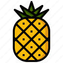 food, foods, fruit, healthy, organic, pineapple, restaurant icon
