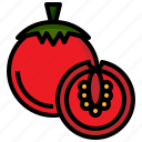 diet, food, fruit, healthy, organic, tomato, vegan, vegetarian icon