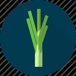 leek, nature, onion, organic, plant, vegetables icon