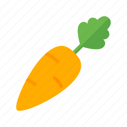 carrot, colour, food, garden, health, orange, vegetable icon