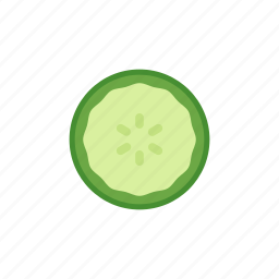 colour, cucumber, garden, green, health, salad, vegetable icon