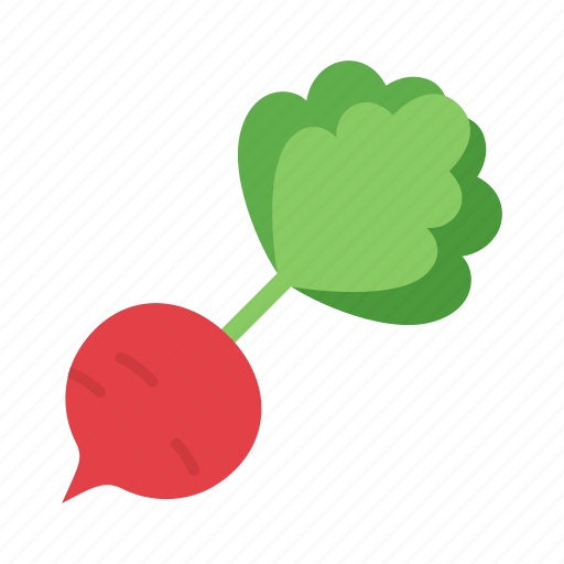 colour, food, garden, radish, red, root, vegetable icon
