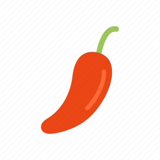 Pepper, food, colour, hot, vegetable, chili, red icon