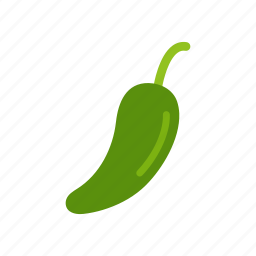 chili, colour, food, green, hot, pepper, vegetable icon