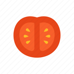 colour, food, red, salad, slice, tomato, vegetable icon