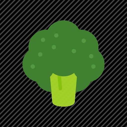 broccoli, colour, food, garden, green, vegetable icon