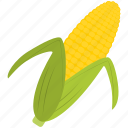 corn, farm, food, green, yellow icon