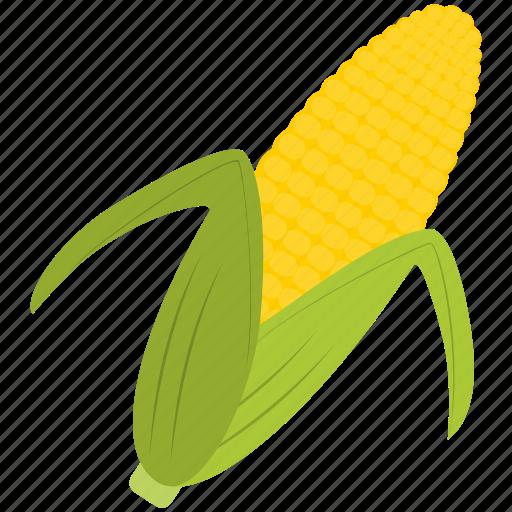 corn, farm, food, green, yellow icon