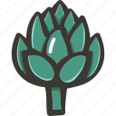artichoke, food, fresh, plant, veggie icon