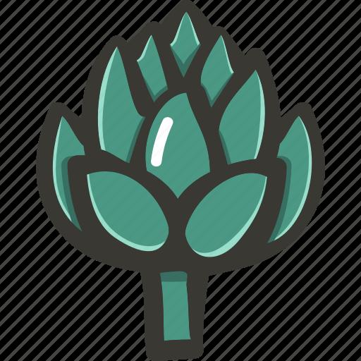 Artichoke, fresh, veggie, food, plant icon - Download on Iconfinder