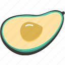 avocado, food, fresh, plant, veggie icon